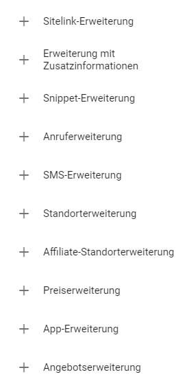 B2B-Kampagnenstruktur_Anzeigenerweiterungen