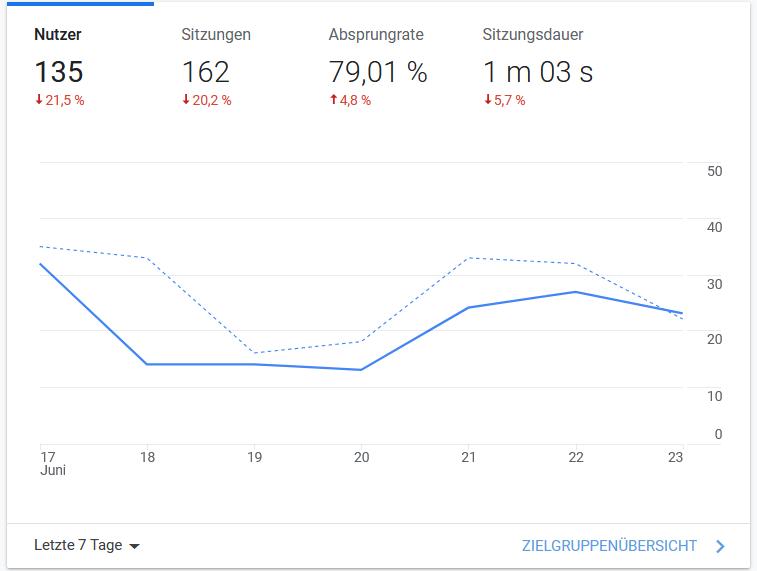 Google Analytics Statistik